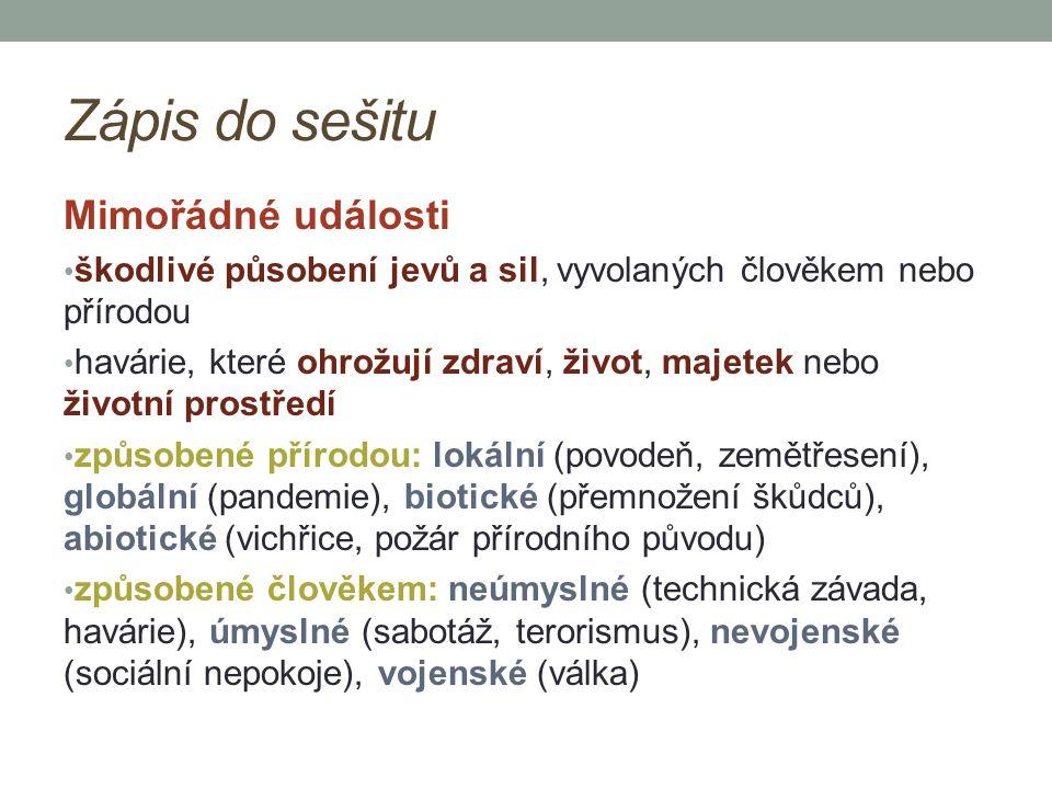 Integrovaný záchranný systém (IZS) jeho složky zajišťují nepřetržitou pohotovost pro příjem ohlášení vzniku mimořádné události a neodkladný zásah složky IZS: Hasičský záchranný sbor 150 Zdravotnická záchranná služba (ZZS) 155 Policie ČR 158 Městská policie 156 Jednotné evropské číslo tísňového volání 112