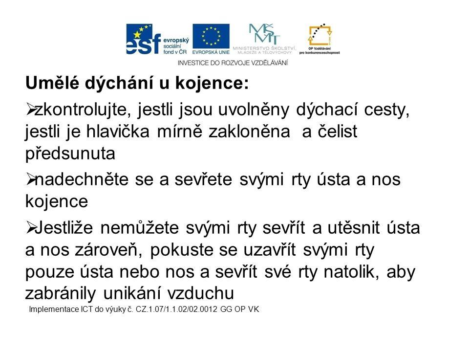  dýchací cesty musí být při této poloze dobře dostupné ukázka stabilizované polohy u dítěte Implementace ICT do výuky č.