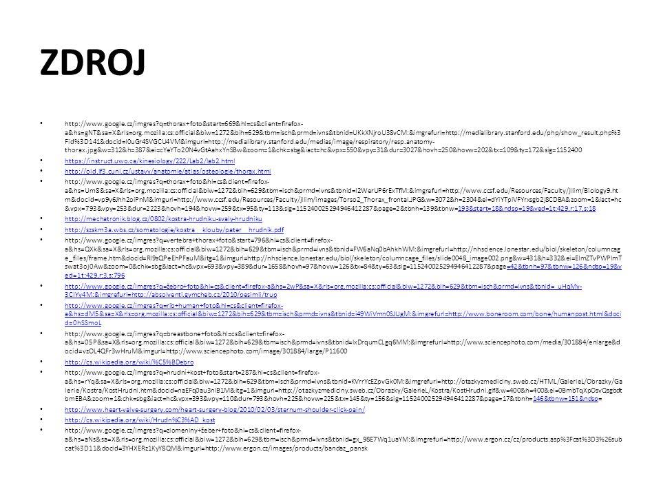 ZDROJ http://www.google.cz/imgres?q=thorax+foto&start=669&hl=cs&client=firefox- a&hs=gNT&sa=X&rls=org.mozilla:cs:official&biw=1272&bih=629&tbm=isch&pr
