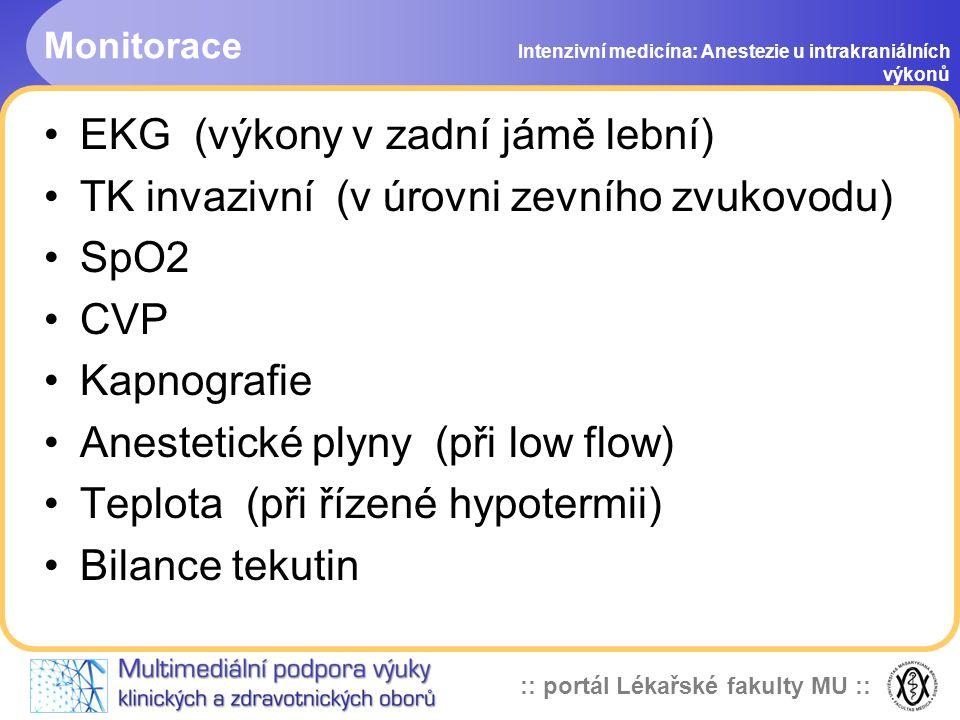:: portál Lékařské fakulty MU :: Kapnografie Intenzivní medicína: Anestezie u intrakraniálních výkonů pCO2 - citlivý a důležitý nespecifický ukazatel Absorpce IR světla 4,25mm molekulami CO2 paCO2 mezi 4-5 kPa, ne pod 3,5 kPa !.