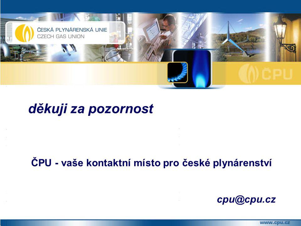děkuji za pozornost ČPU - vaše kontaktní místo pro české plynárenství cpu@cpu.cz