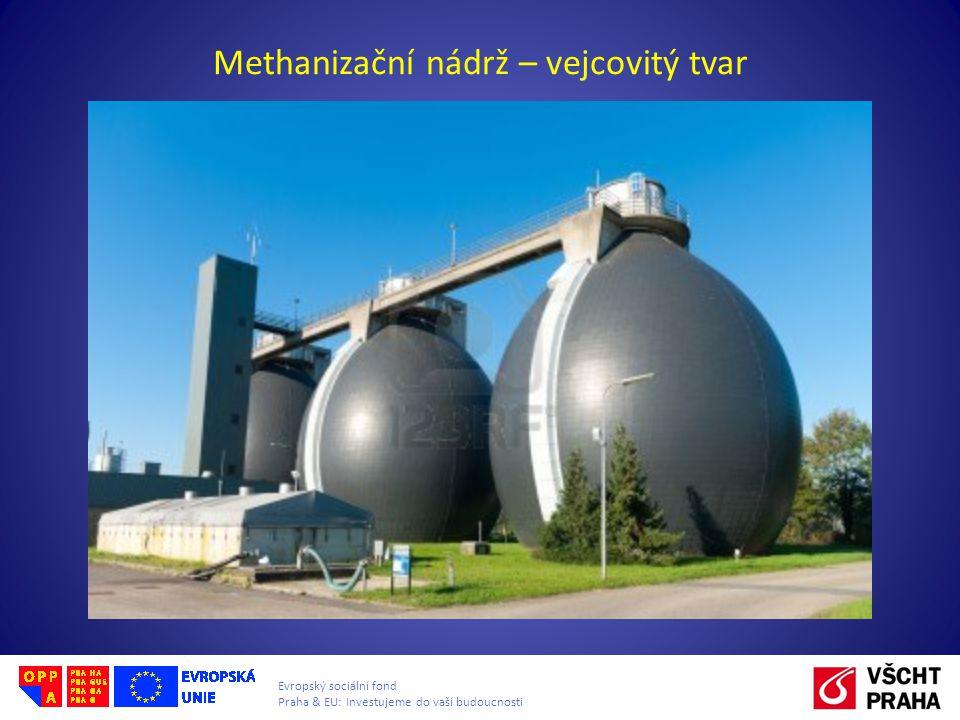 Evropský sociální fond Praha & EU: Investujeme do vaší budoucnosti Methanizační nádrž – vejcovitý tvar