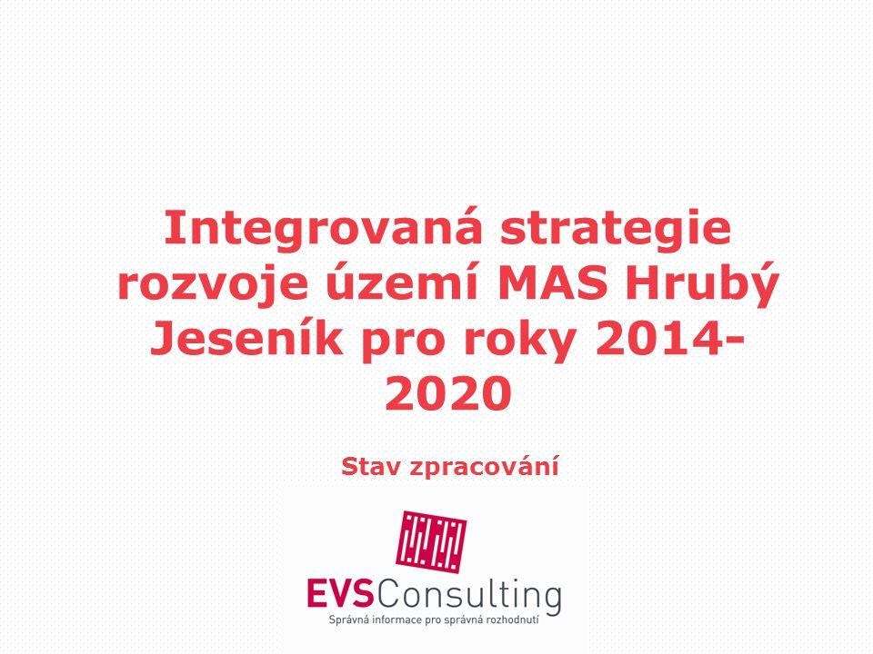 Integrovaná strategie rozvoje území MAS Hrubý Jeseník pro roky 2014- 2020 Stav zpracování