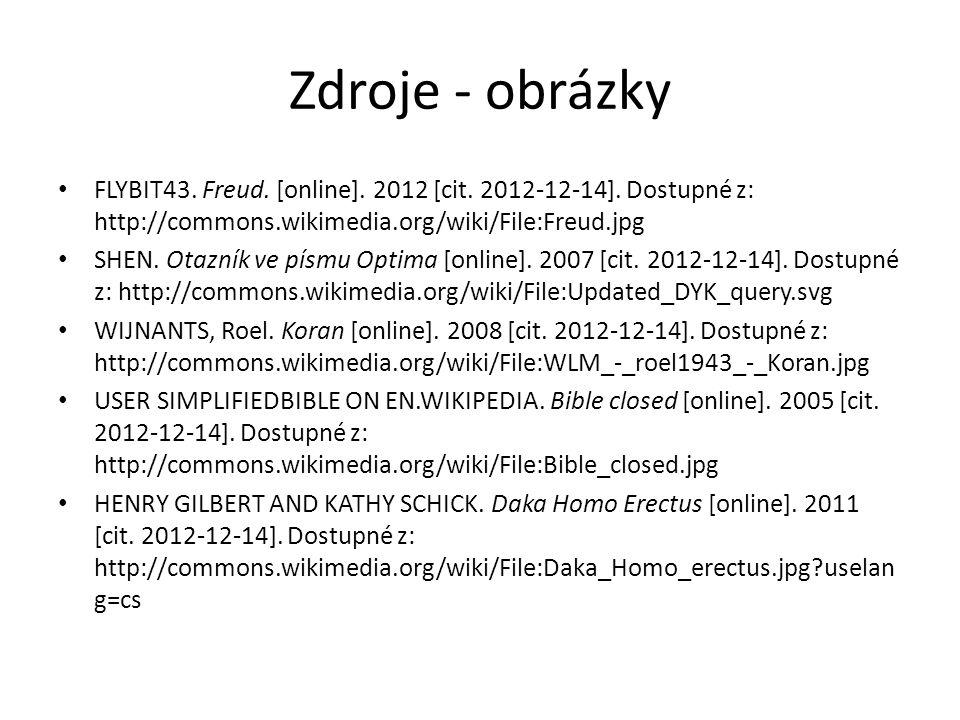 Zdroje - obrázky FLYBIT43.Freud. [online]. 2012 [cit.
