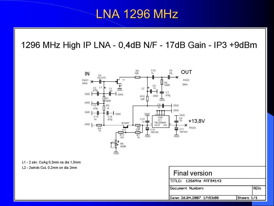 LNA 1296 MHz