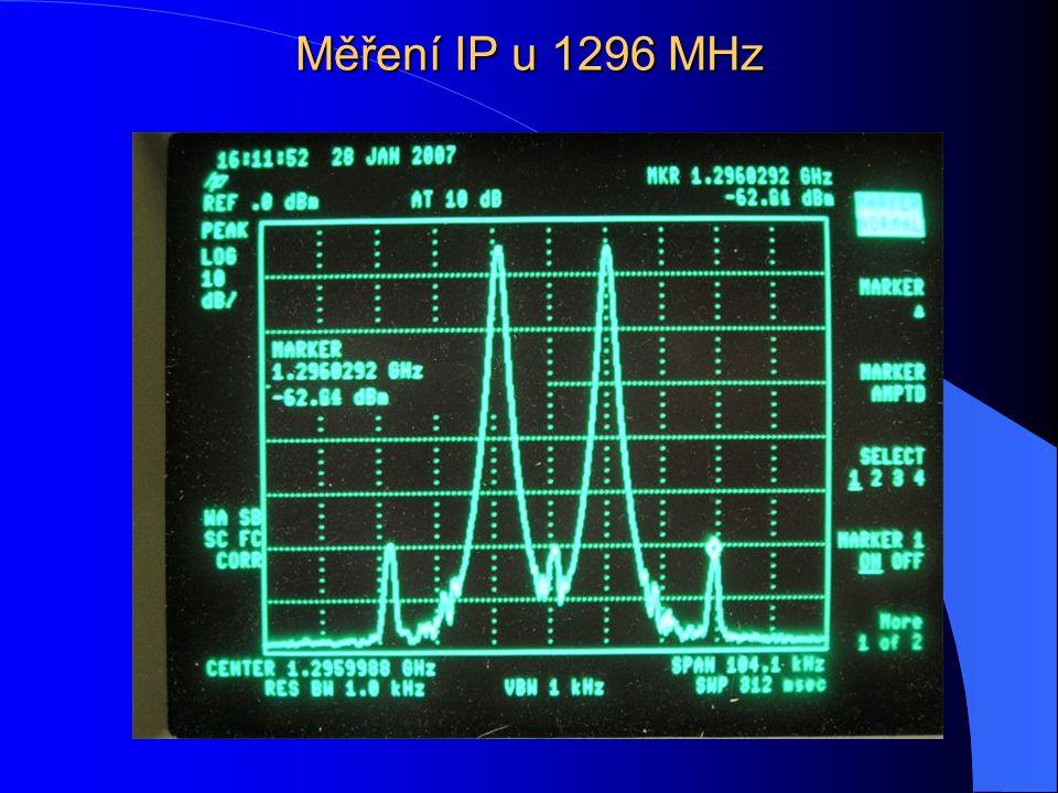 Měření IP u 1296 MHz