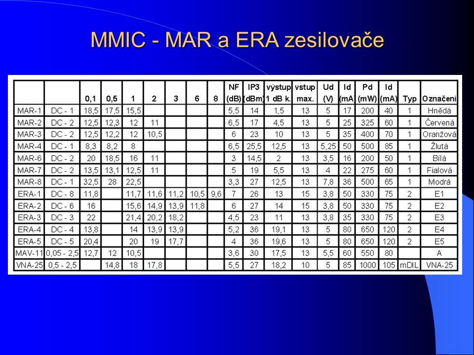 MMIC - MAR a ERA zesilovače