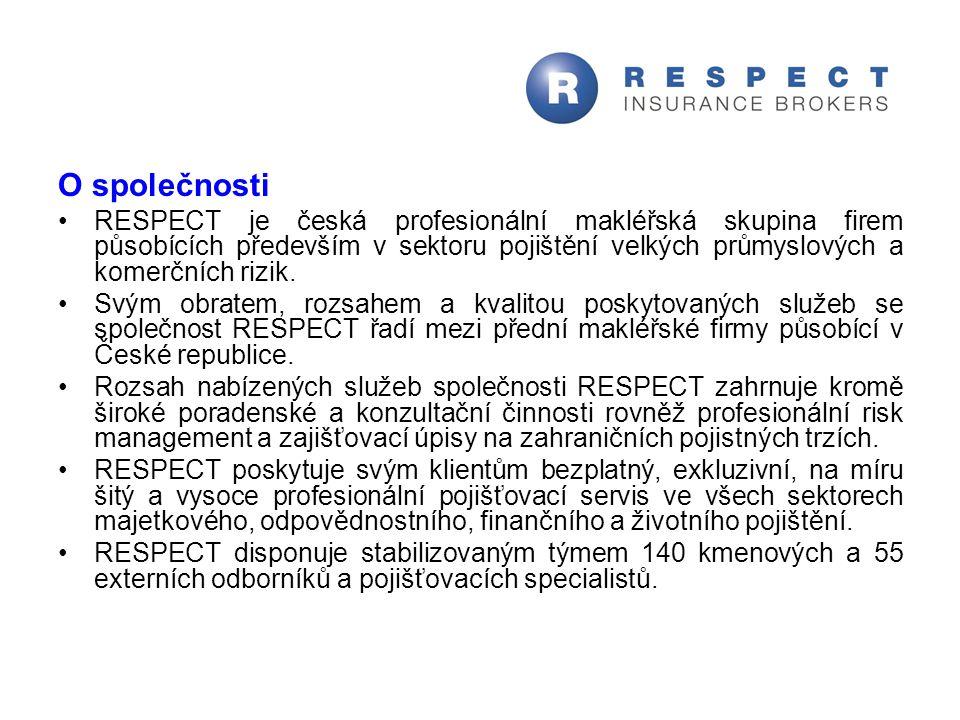 O společnosti RESPECT je česká profesionální makléřská skupina firem působících především v sektoru pojištění velkých průmyslových a komerčních rizik.