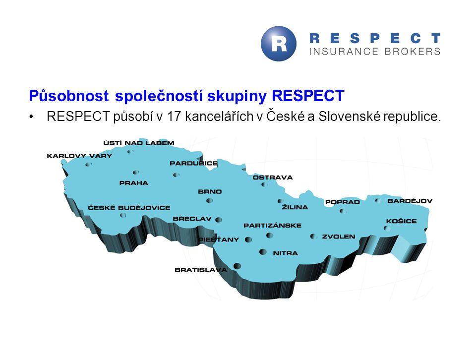 Působnost společností skupiny RESPECT RESPECT působí v 17 kancelářích v České a Slovenské republice.