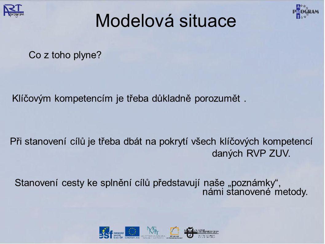 Modelová situace Klíčovým kompetencím je třeba důkladně porozumět.