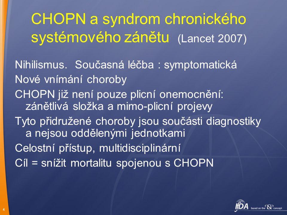 4 CHOPN a syndrom chronického systémového zánětu (Lancet 2007) Nihilismus.