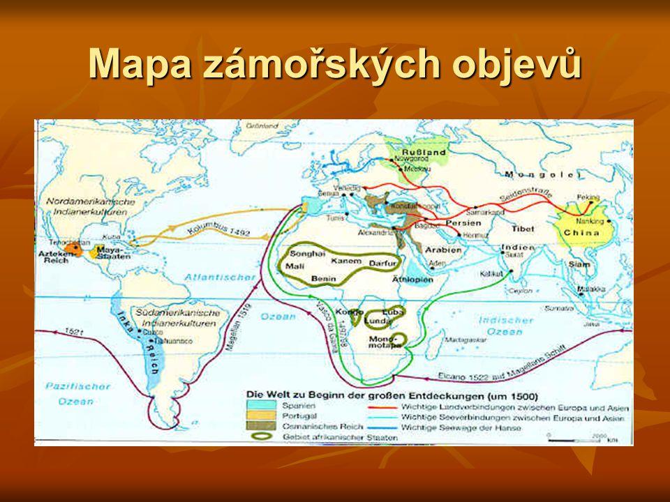 Mapa zámořských objevů