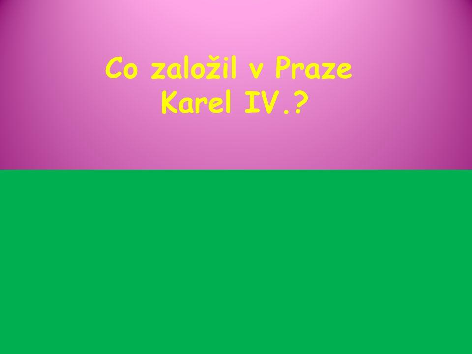 Co založil v Praze Karel IV.?