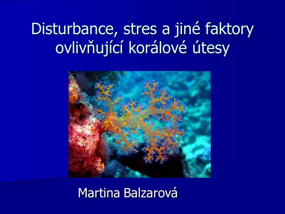 Disturbance, stres a jiné faktory ovlivňující korálové útesy Martina Balzarová
