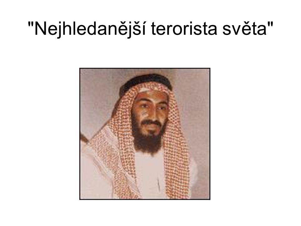 Usáma bin Ládin, strůjce teroristického útoku organizace al-Kajdá na Spojené státy americké 11.