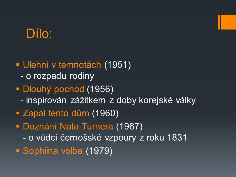 Sophiina volba (1979)  psychologický román vracející se k událostem 2.