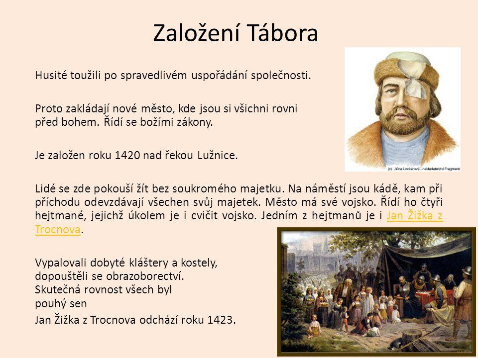 V roce 1421 zemský sněm v Čáslavi (zástupci šlechty a měst) sesadili Zikmunda a zvolili si zemskou vládu (20 členů – 5 pánů, 8 zemanů, 7 zástupců měst).