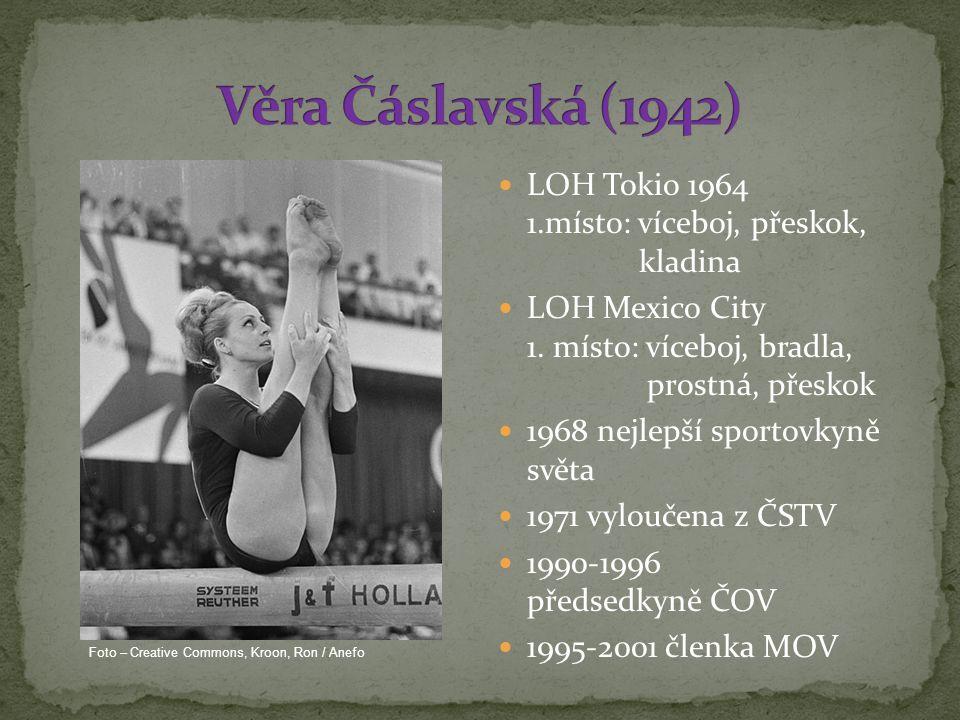 LOH Tokio 1964 1.místo: víceboj, přeskok, kladina LOH Mexico City 1.