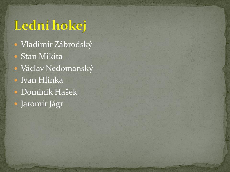 Vladimír Zábrodský Stan Mikita Václav Nedomanský Ivan Hlinka Dominik Hašek Jaromír Jágr