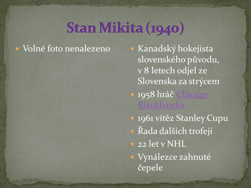 Kanadský hokejista slovenského původu, v 8 letech odjel ze Slovenska za strýcem 1958 hráč Chicago BlackhawksChicago Blackhawks 1961 vítěz Stanley Cupu Řada dalších trofejí 22 let v NHL Vynálezce zahnuté čepele Volné foto nenalezeno