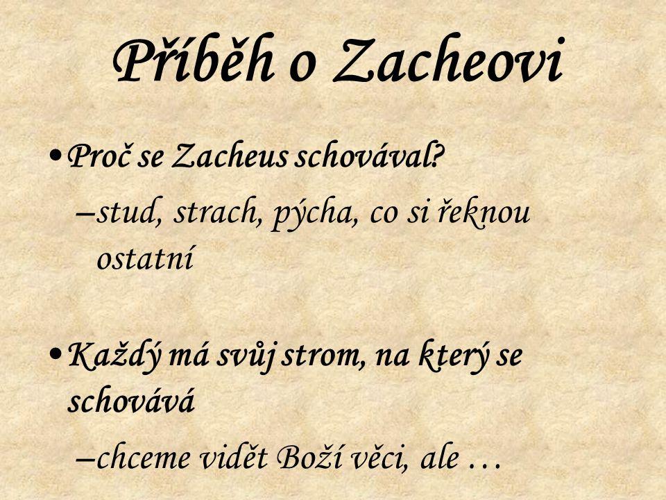 Příběh o Zacheovi Proč se Zacheus schovával.