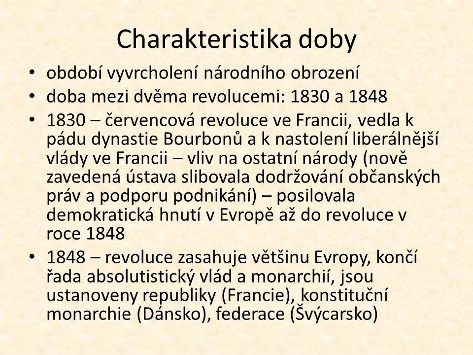 České země utlačování národních práv a svobod v Rakousku – tlak ze strany mladého měšťanstva i rodícího se proletariátu uvnitř konzervativní vrstvy vzniká skupina liberálů – F.