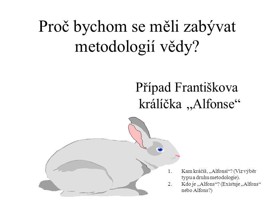 Proč bychom se měli zabývat metodologií vědy.