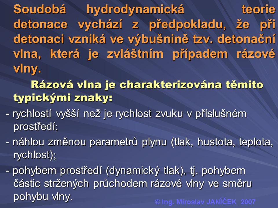 Soudobáhydrodynamická teorie detonace vychází z předpokladu, že při detonaci vzniká ve výbušnině tzv. detonační vlna, která je zvláštním případem rázo