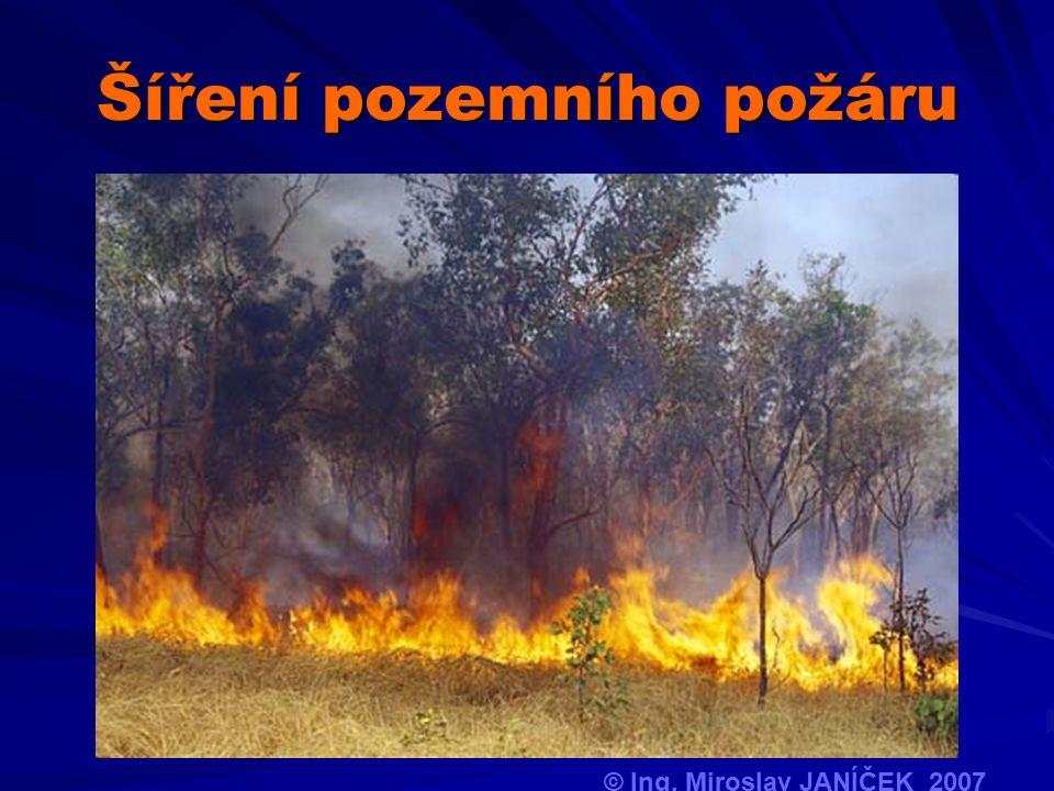 Šíření pozemního požáru © Ing. Miroslav JANÍČEK 2007
