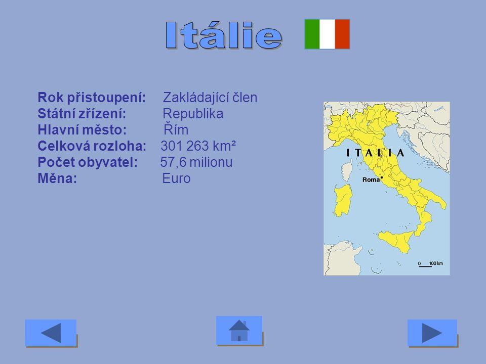 Rok přistoupení: 1973 Státní zřízení: Republika Hlavní město: Dublin Celková rozloha: 70 000 km² Počet obyvatel: 3,7 milionu Měna: Euro