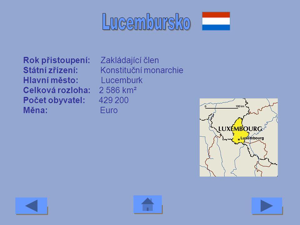 Rok přistoupení: 2004 Státní zřízení: Republika Hlavní město: Riga Celková rozloha: 65 000 km² Počet obyvatel: 2,4 milionu Měna: Lat