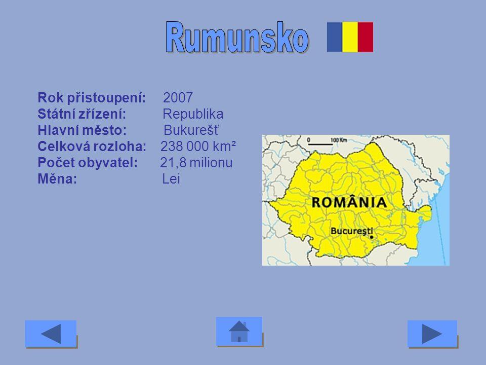 Rok přistoupení: 1995 Státní zřízení: Republika Hlavní město: Vídeň Celková rozloha: 88 945 km² Počet obyvatel: 8,1 milionu Měna: Euro