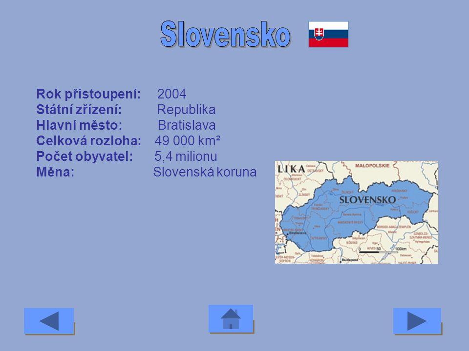 Rok přistoupení: 1981 Státní zřízení: Republika Hlavní město: Atény Celková rozloha: 131 957 km² Počet obyvatel: 10,5 milionu Měna: Euro