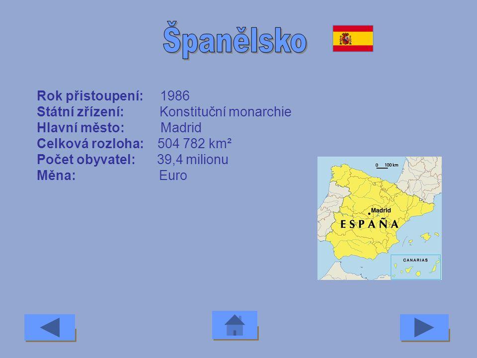 Rok přistoupení: 2004 Státní zřízení: Republika Hlavní město: Ljubljana Celková rozloha: 20 000 km² Počet obyvatel: 2 miliony Měna: Tolar
