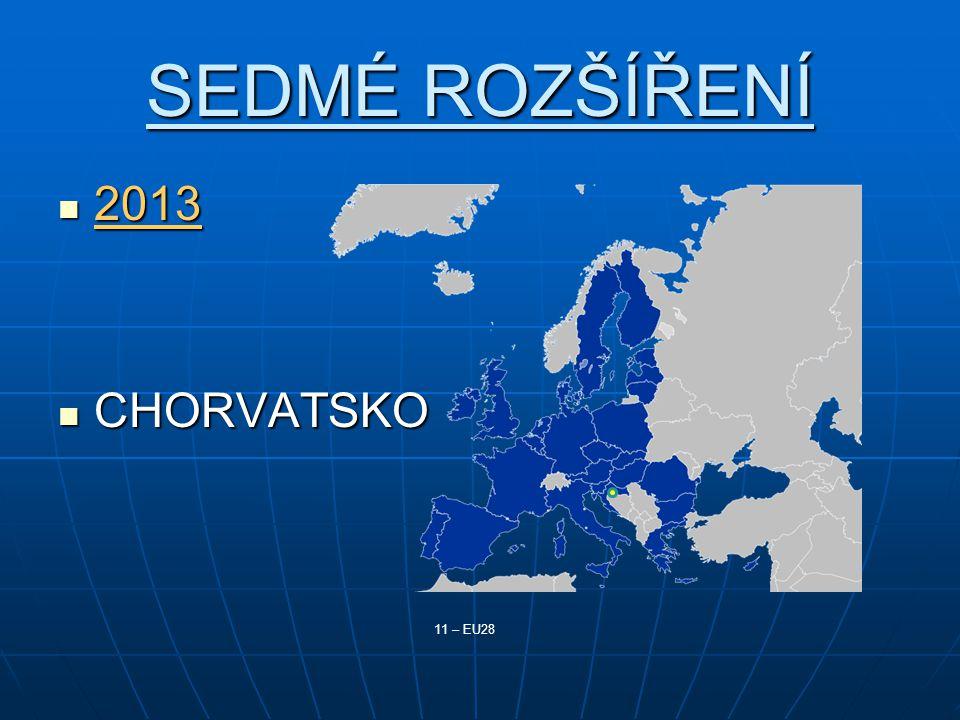 SEDMÉ ROZŠÍŘENÍ 2013 2013 CHORVATSKO CHORVATSKO 11 – EU28