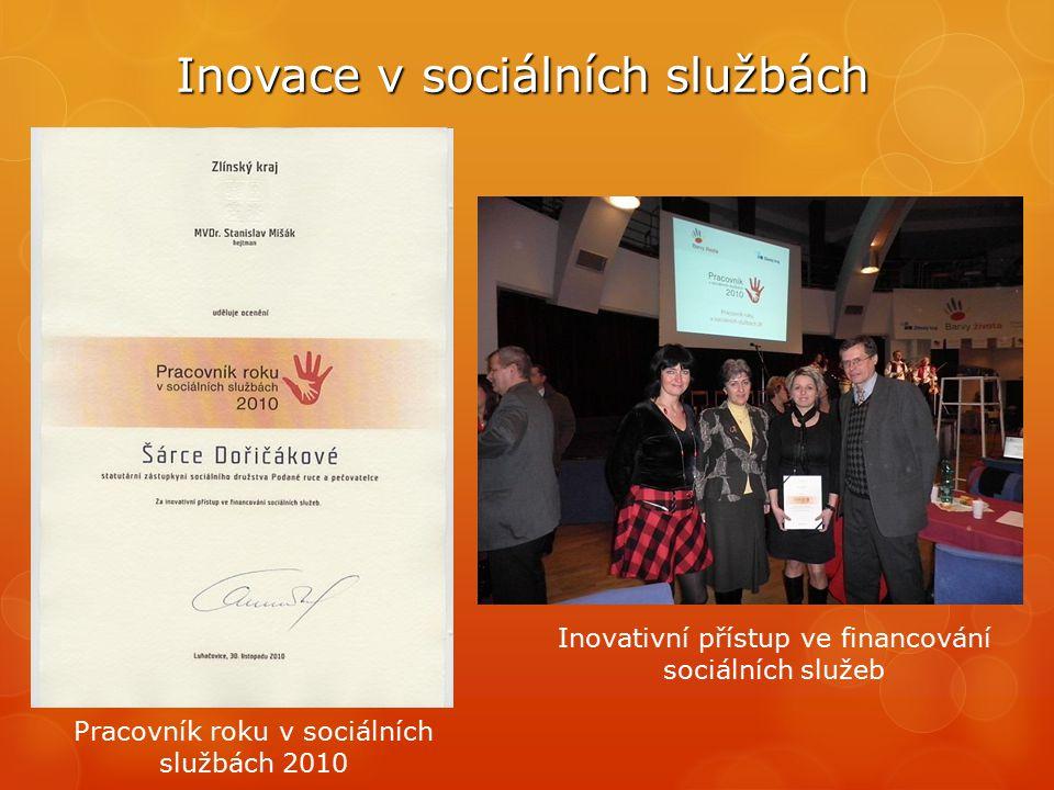Inovace v sociálních službách Pracovník roku v sociálních službách 2010 Inovativní přístup ve financování sociálních služeb
