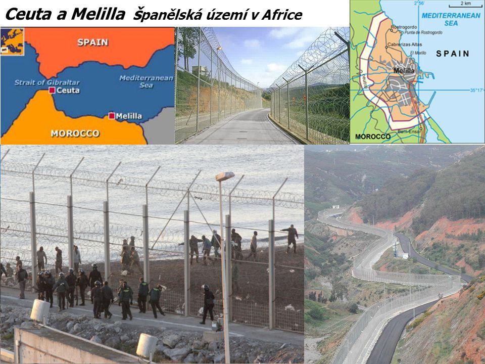 Ceuta a Melilla š panělská území v Africe