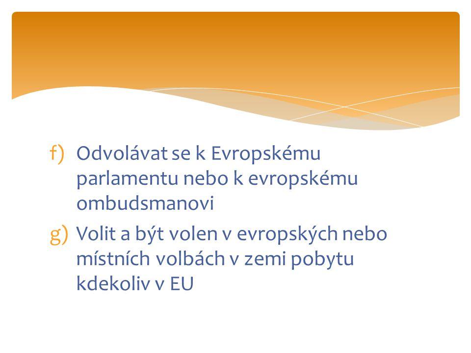 Povinnosti občana EU  Respektovat zákony státu EU  Dodržovat mezinárodní právo  Být odpovědný k ostatním  Chápání politického systému  Ochrana míru a bezpečnosti