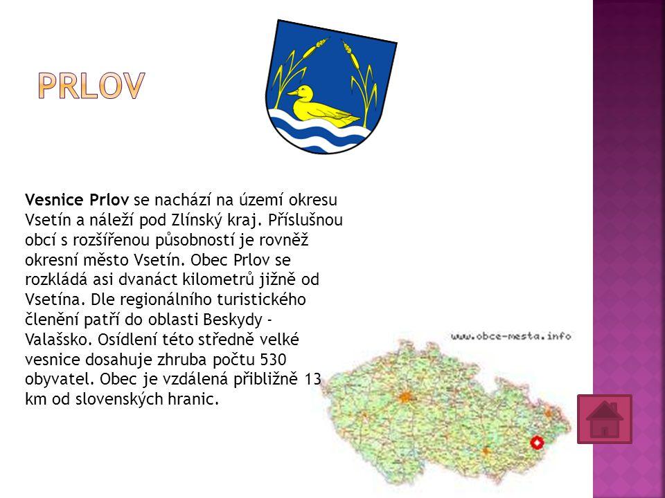 Vesnice Prlov se nachází na území okresu Vsetín a náleží pod Zlínský kraj.