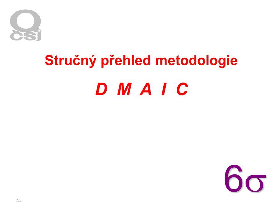 13 Stručný přehled metodologie D M A I C 6666