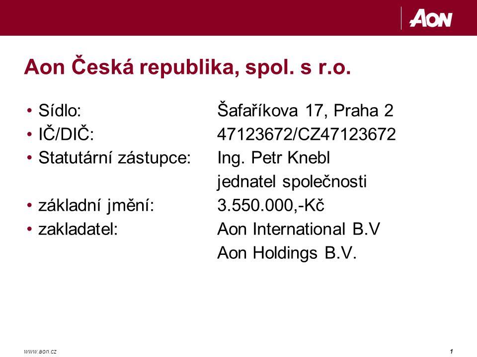 1www.aon.cz Aon Česká republika, spol.s r.o.