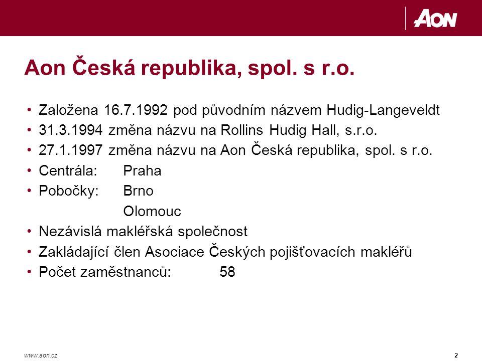 2www.aon.cz Aon Česká republika, spol.s r.o.