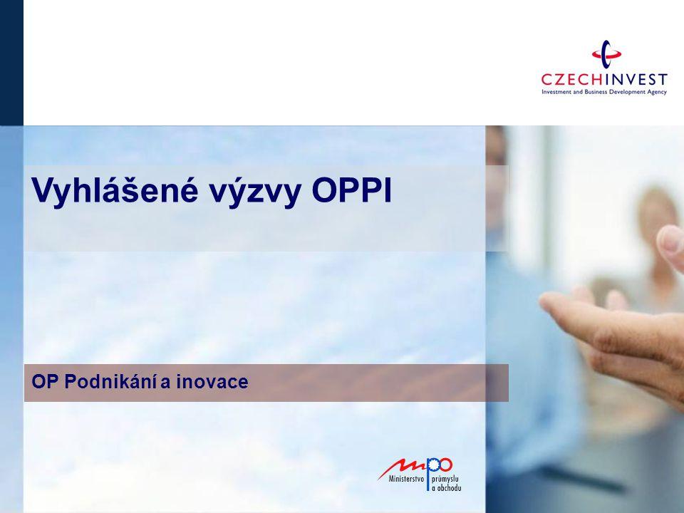 Vyhlášené výzvy OPPI OP Podnikání a inovace