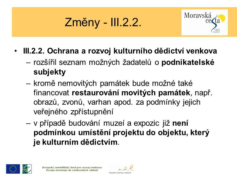 Změny - III.2.2. III.2.2.