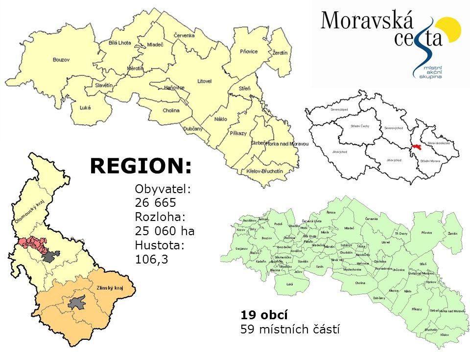 4.4.2015Snímek 4 Obyvatel: 26 665 Rozloha: 25 060 ha Hustota: 106,3 19 obcí 59 místních částí REGION: