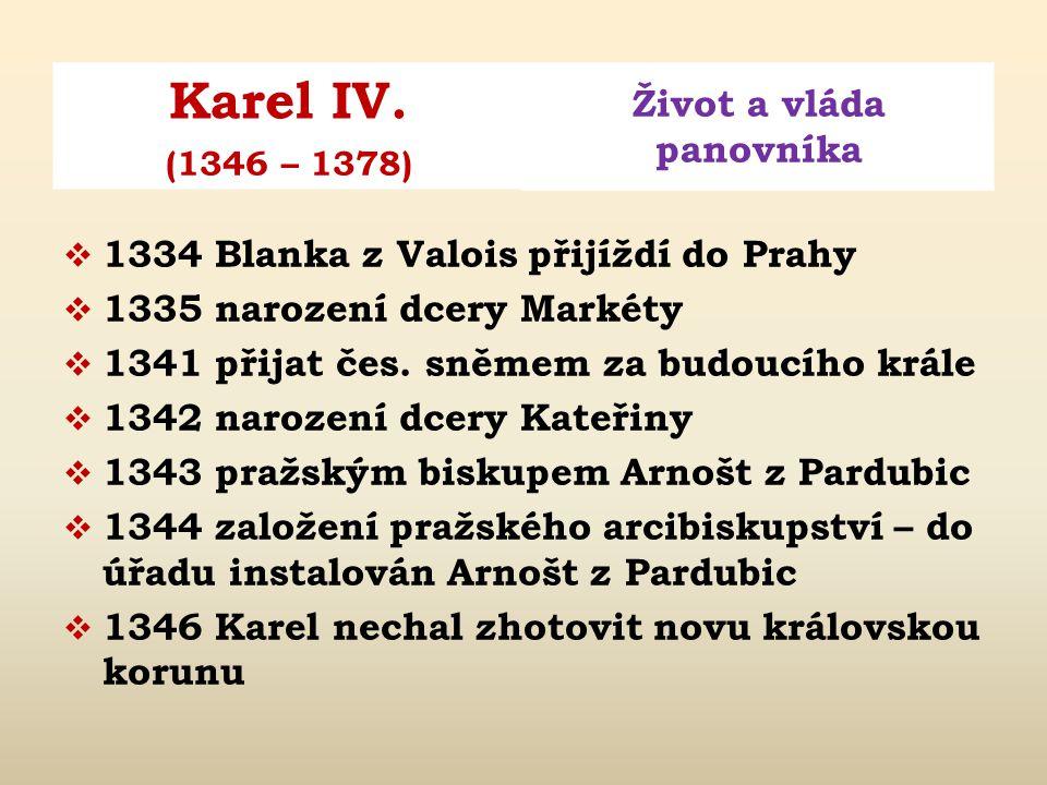 Obr. 2: Blanka z Valois a Karel IV.