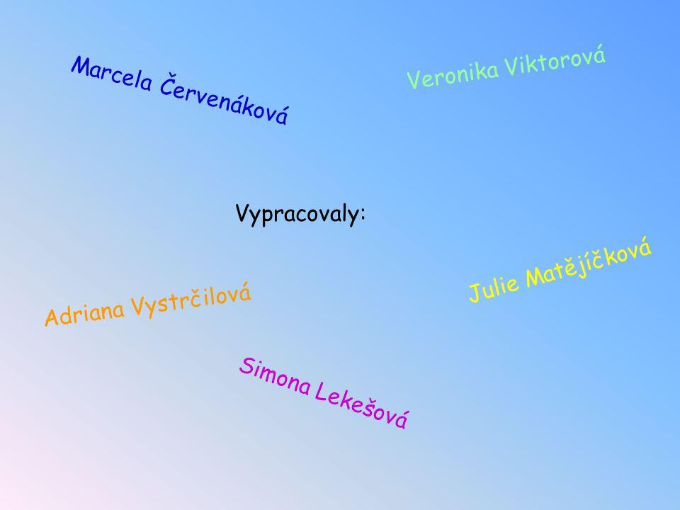 Vypracovaly: Adriana Vystrčilová Simona Lekešová Veronika Viktorová Marcela Červenáková Julie Matějíčková