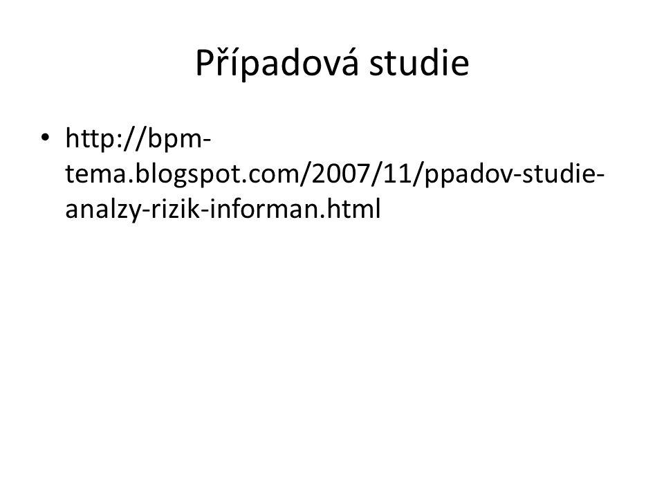 Případová studie http://bpm- tema.blogspot.com/2007/11/ppadov-studie- analzy-rizik-informan.html