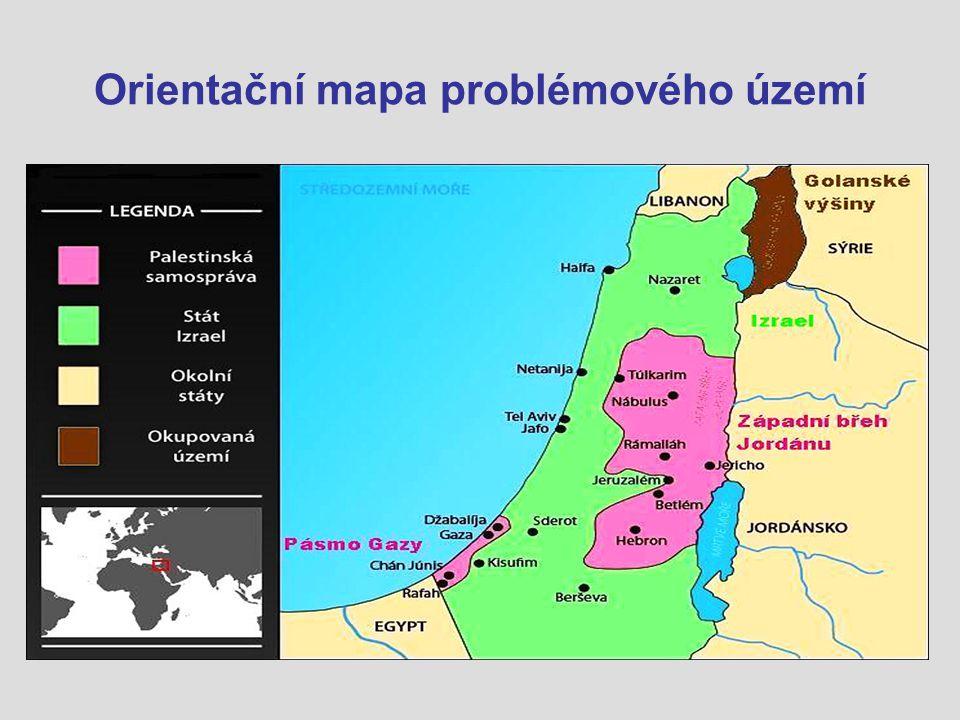 Orientační mapa problémového území