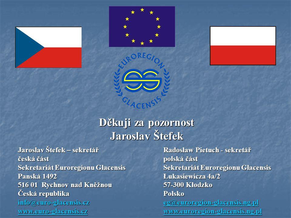 Jaroslav Štefek – sekretářRadosław Pietuch - sekretář česká částpolská část Sekretariát Euroregionu GlacensisSekretariát Euroregionu Glacensis Panská